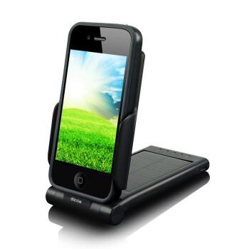 奇葩?dexim德鑫明 DCA223L P-Flip全球专利 iPhone 4/4S 太阳能旋转电池 2000mAh