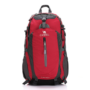 骆驼(CAMEL) 登山包背包 户外旅行背包双肩包徒步背包 40L 1F01018 红色