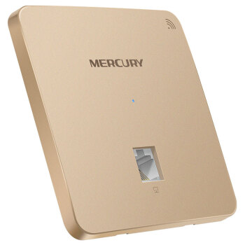 MERCURY水星千兆5G双频86型面板嵌入墙壁式无线ap面板路由器家用商用企业酒店别墅wifi接入 MIAP300P金色版百兆端口300M PoE供电