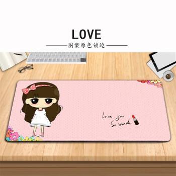 女生可爱超大鼠标垫 励志鼠标垫超大 叮当猫HelloKitty鼠标垫 LOVE 800X300X2MM