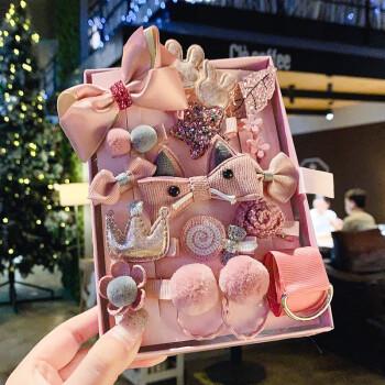 超值礼盒装十八件套儿童发饰,各种发卡都有,可以用来当生日礼物哦