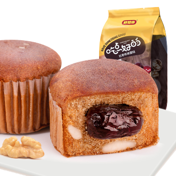 好想你 红枣核桃蛋糕180g 独立小袋装 小蛋糕早餐面包 单包