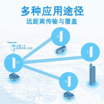 TP-LINK 无线网桥150M300M/867M专业户外室外远距离高速无线传输与覆盖 安防监控拍档 5公里传输 4百兆口300M TL-CPE211