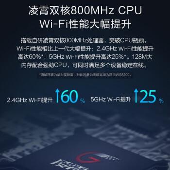 华为路由器WS6500千兆版无线家用游戏办公双频5G高速穿墙王大功率wifi信号放大器光纤宽带漏油器 WS6500双频千兆路由器