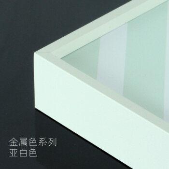 简约细窄边铝合金画框相框装裱创意挂墙海报广告写真拼图框定制做 亚白色 可放70*100cm【两个起发】