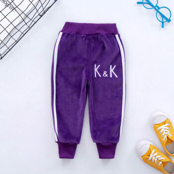 儿童加绒运动裤