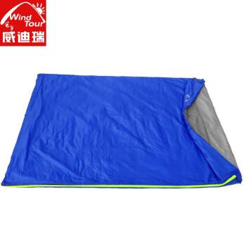 威迪瑞防寒睡袋冬季加厚成人户外单人大人露营室内便携式夏季薄款 超轻睡袋-浅蓝