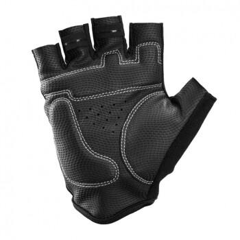 SeaFire夏季透气短指手套自行车骑行手套男女经典款 防滑减震舒适透气皮面手撑骑行半指手套 黑色 XL