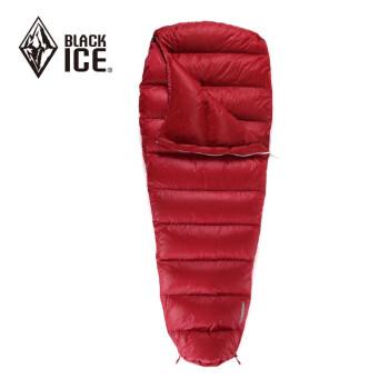 黑冰升级款 G200/G400/G700/G1000/G1300 户外木乃伊羽绒睡袋野外露营羽绒被 红色 G200 M码【全新升级款】