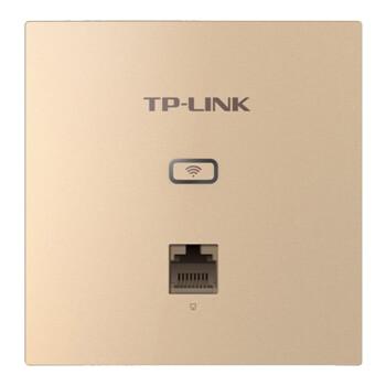 TP-LINK无线86型ap面板千兆双频wifi插座家用别墅酒店5G入墙全屋覆盖路由器POEAC套装 TL-AP1202GI-POE(香槟金薄方)