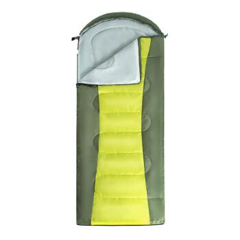 赤道 睡袋成人户外旅行春夏秋冬四季便携式保暖室内露营单人隔脏棉睡袋 CD1017 军绿
