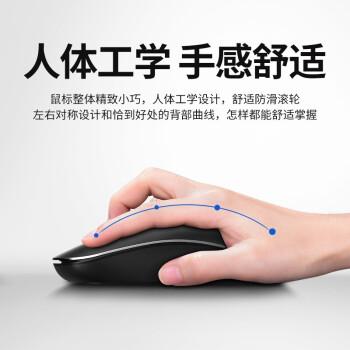 飞利浦(PHILIPS)SPK7315无线鼠标 充电便携台式电脑笔记本吃鸡LOL游戏办公商务家用鼠标 经典黑 (电池版)