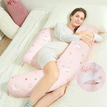 佳韵宝(Joyourbaby)孕妇枕抱枕孕妇枕头侧睡枕H型孕妇护腰枕多功能孕妇睡枕 纱布款海底鲸灵