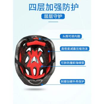 永久同款配件轮滑鞋护具装备全套套装儿童头盔滑板自行车平衡车运动护膝安全帽 蓝色全套(头盔+护手+护肘+护膝) M码(适合8-13岁)