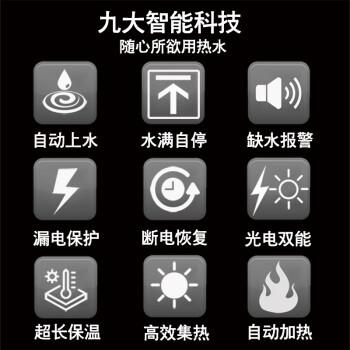 帅因特(ccsyt)太阳能热水器家用 全自动上水光电两用 即开即热 一级能效 24管传统款【送货+配件包】(适合4-5人)