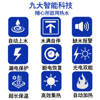 帅因特(ccsyt)太阳能热水器家用 全自动上水光电双能一级能效 增压防冻 18管传统款【送货+配件包+安装】(适合2-3人)