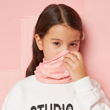 伯希和儿童多功能围脖魔术头巾防晒防风面罩加厚保暖口罩面罩珊瑚粉 PE216043208