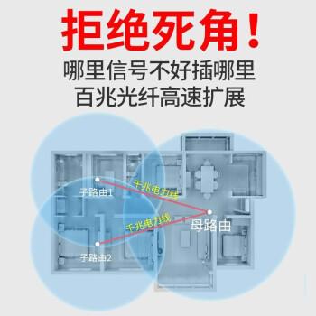华为路由器Q2s 千兆子母路由器无线穿墙王电力猫光纤5G双频wifi信号放大器 Q2S子路由(需搭配母路由使用)