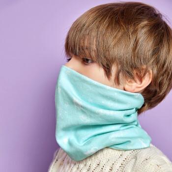 伯希和儿童多功能围脖魔术头巾防晒防风面罩加厚保暖口罩面罩有氧绿 PE216043208