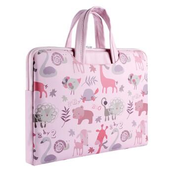 Túi chống sốc có quai hoạ tiết hoa thổ cẩm nền hồng