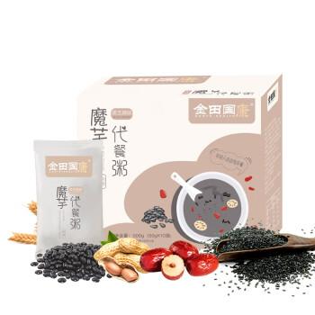 金田国康 黑芝麻红枣代餐粥 早餐速食粥 方便粥500g(50g*10)