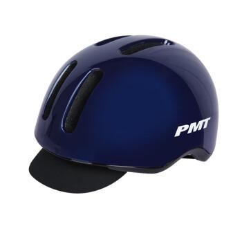 PMT自行车头盔平衡车电动车安全帽城市通勤男女四季通用山地车单车滑板骑行装备 亮光蓝L