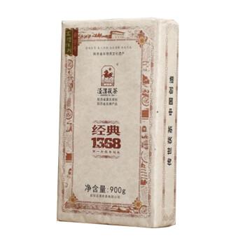 泾渭茯茶经典1368黑茶 900克陕西黑茶伏茶 泾阳茯茶 陕西特产金花茯砖茶