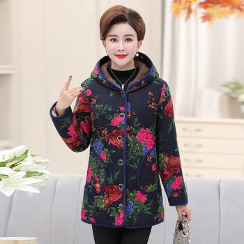 中老年女装加绒加厚棉衣 4XL(建议130-145斤)