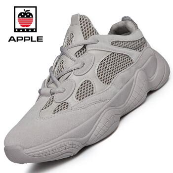 苹果(APPLE)休闲鞋子男韩版小白ins超火的鞋潮流跑步运动户外 Y500 灰色 39