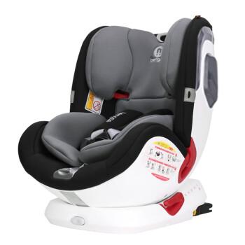 德国贝婴适可坐躺宝宝婴儿童安全座椅汽车用载0-4-12岁360度旋转 加强版太空灰