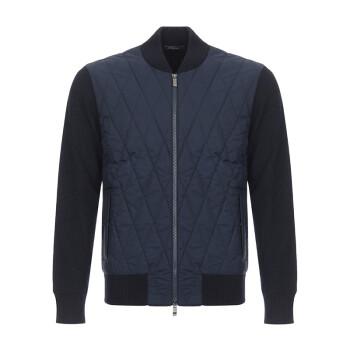Z ZEGNA 杰尼亚 奢侈品 男士海军蓝混纺针织衫外套 VRP63 ZZ159 B09 M码