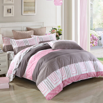 恒源祥 全棉纯棉被套床被罩单件 床上用品 美丽心语200*230cm