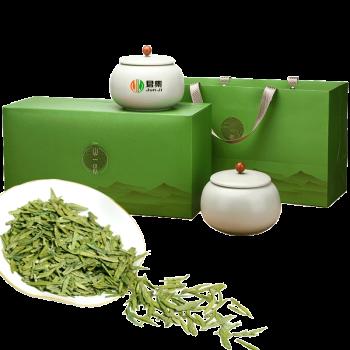 君集 茶叶 明前 绿茶 新茶 春茶 绿茶 陶瓷罐300克