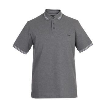 Z ZEGNA 杰尼亚 奢侈品 19春夏新款 男士灰色棉质短袖POLO衫 VS370 ZZ600 K97 M码
