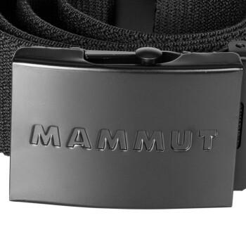 MAMMUT猛犸象男女强韧弹性轻质舒适休闲腰带皮带 1192-00140黑色均码