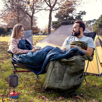挪客(NatureHike)春夏季超轻睡袋 大人薄款户外露营单人便携式成人旅行睡袋 加大款-藏青色