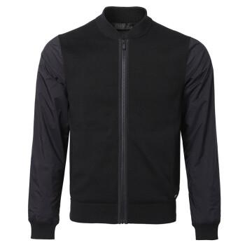 Z ZEGNA 杰尼亚 18秋冬新款 男士黑色混纺针织拼接袖子运动衫 VMC12 ZZ478 K09 M