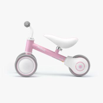 柒小佰 儿童平衡车 滑行车溜溜车婴儿学步车宝宝玩具单车三轮无脚踏助步车 小粉