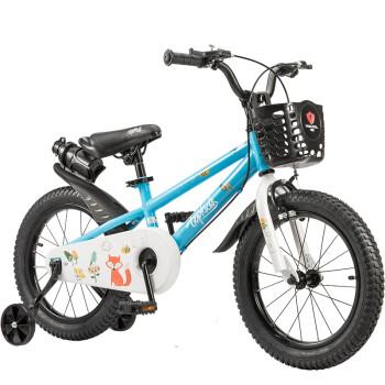 特酷婴童(TOOKKE)儿童自行车 小孩单车男女童车 宝宝脚踏车山地车 3岁5岁9岁 表演车 格林童话 蓝色 14寸