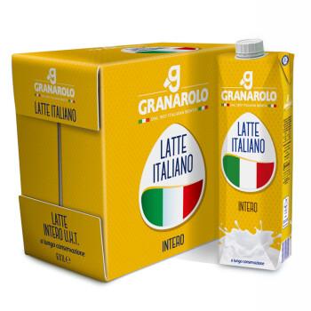 意大利原装进口牛奶 葛兰纳诺(Granarolo)全脂牛奶1L*6瓶/箱 整箱装