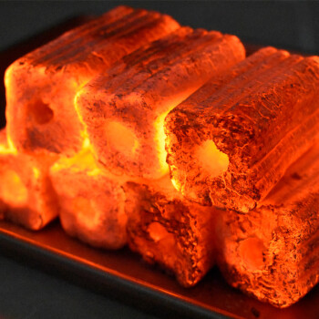 尚烤佳 烧烤碳 环保无烟烧烤果木炭 机制木炭烧烤碳 条形空心炭 烧烤燃料3斤 内含引火块