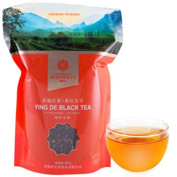 积庆里 茶叶 红茶 英德红茶 英红九号 自饮袋装原叶小条300克茶叶包
