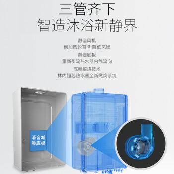 林内(Rinnai)RUS-16QD01 16升静音恒温 水气双调 防冻 燃气热水器(天然气)(JSQ31-C01)