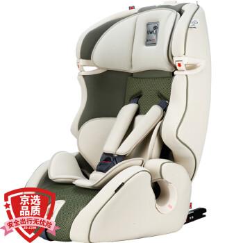 kiwy原装进口宝宝汽车儿童安全座椅isofix接口 适合约9个月-12岁 无敌浩克 灵动绿