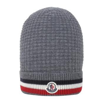 Moncler 盟可睐 男士灰色羊毛羊绒针织帽 D2 091 9921500 9489E 985
