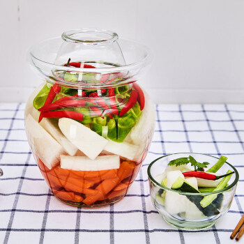 雅高 泡菜坛子 家用加厚透明密封罐咸菜罐腌菜坛子酸菜 10斤装YG-C079