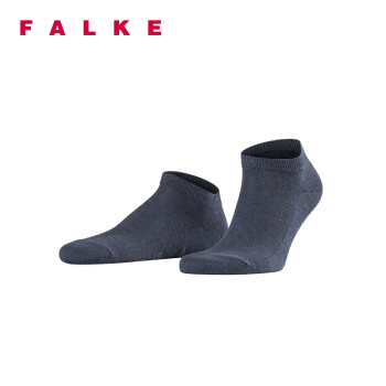 FALKE 德国鹰客 Family Sneaker休闲舒适透气低短筒男袜 深蓝色navyblue m 39-42 14626-6490