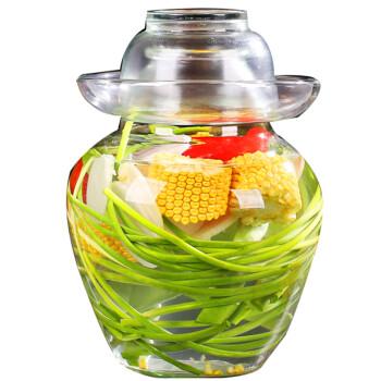 雅高 泡菜坛子 家用加厚透明密封罐咸菜罐腌菜坛子酸菜 5斤装YG-C080