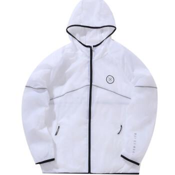 李宁 LI-NING 韦德系列男子运动风衣AFDP115-2 标准白 3XL