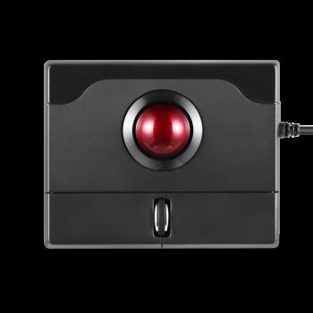 Perixx佩锐 PP506 光学轨迹球鼠标 手托可拆卸(有线轨迹球鼠标 迷你便携人体工程学鼠标) 黑色 轨迹球鼠标